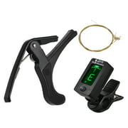 Guitar Tool Kit Including Digital Guitar Tuner Guitar Capo Acoustic Guitar Strings Set for Beginnners Stringed Instrument Parts Accessories