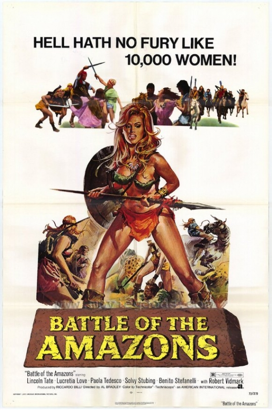 Click here to buy Battle of the Amazons Movie Poster Print (27 x 40) by Pop Culture Graphics.