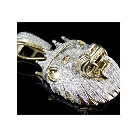 Diamond Crown Charm - 10K Yellow Gold Lion King Crown Diamond 1.5