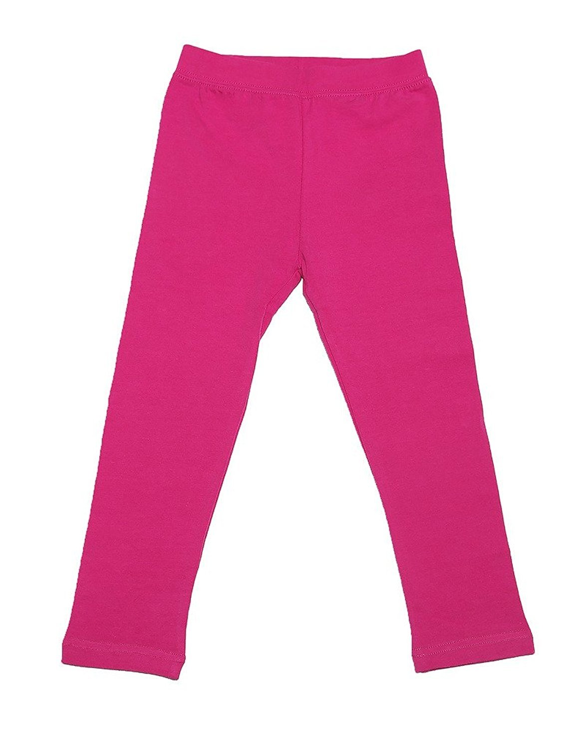 Leveret Girls Legging Cotton Ankle Length Kids & Toddler Pants (Toddler-14 Years) Variety of Colors