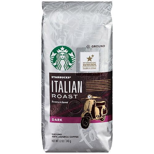 Starbucks Italian Roast Ground Coffee, 12 oz