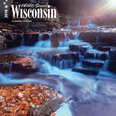 Wisconsin  Wild   Scenic 2018 12 X 12 Inch Monthly Square Wall Calendar  Usa United States Of America Midwest State Nature