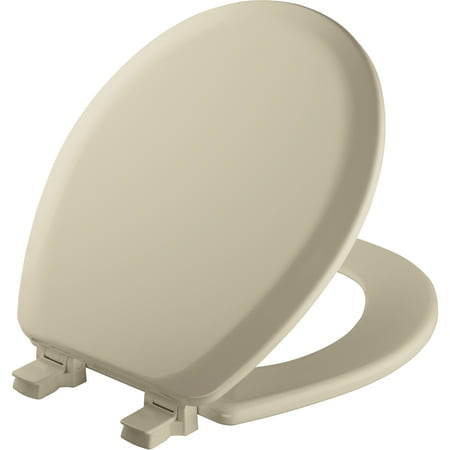 Mayfair Bemis 41EC-006 Bone Round Molded Wood Toilet Seat With Easy Clean & Change Hinge And - Bemis Molded Wood