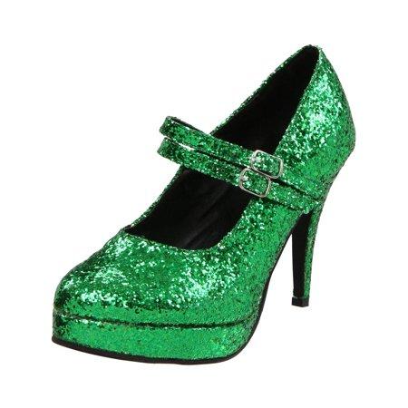 Summit Fashions - Womens St Patrick Shoes Mary Jane Pumps 4 Inch Heels Sparkle  Green Glitter Shoe - Walmart.com 77da6aba5