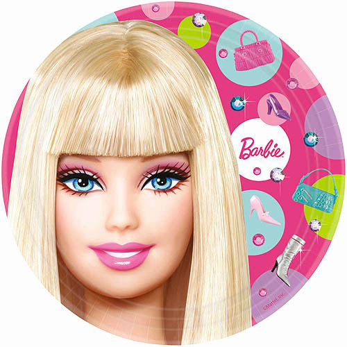 Barbie All Doll'd Up Dinner Plates, 8-Pack