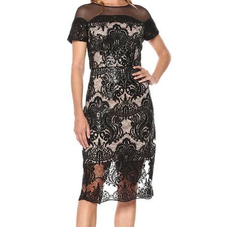 7360549efd1 Jax Black Label - Jax Black Label Womens Sequined Cap Sleeves Cocktail Dress  - Walmart.com