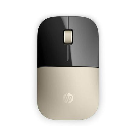Hp 5 Button Optical Sensor - Refurbished HP Z3700 2.4GHz Wireless 3-Button USB Optical Scroll Mouse - Black Gold X7Q43AA