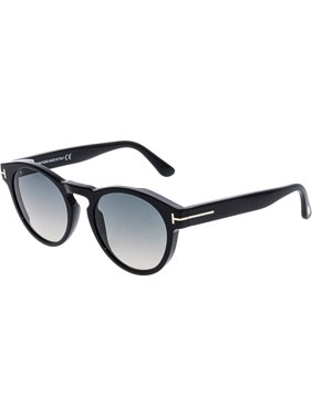 1996505d95b3 Product Image Tom Ford Gradient FT0615-01B-52 Black Round Sunglasses