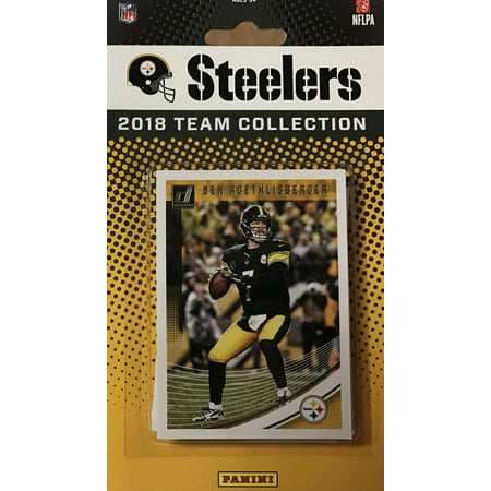 Pittsburgh Steelers 2018 Donruss NFL Football Complete Mint 14 Card Team Set with Ben Roethlisberger, Terry Bradshaw, Le'Veon Bell, Mason Rudolph Rookie card (Card Complete Mint)