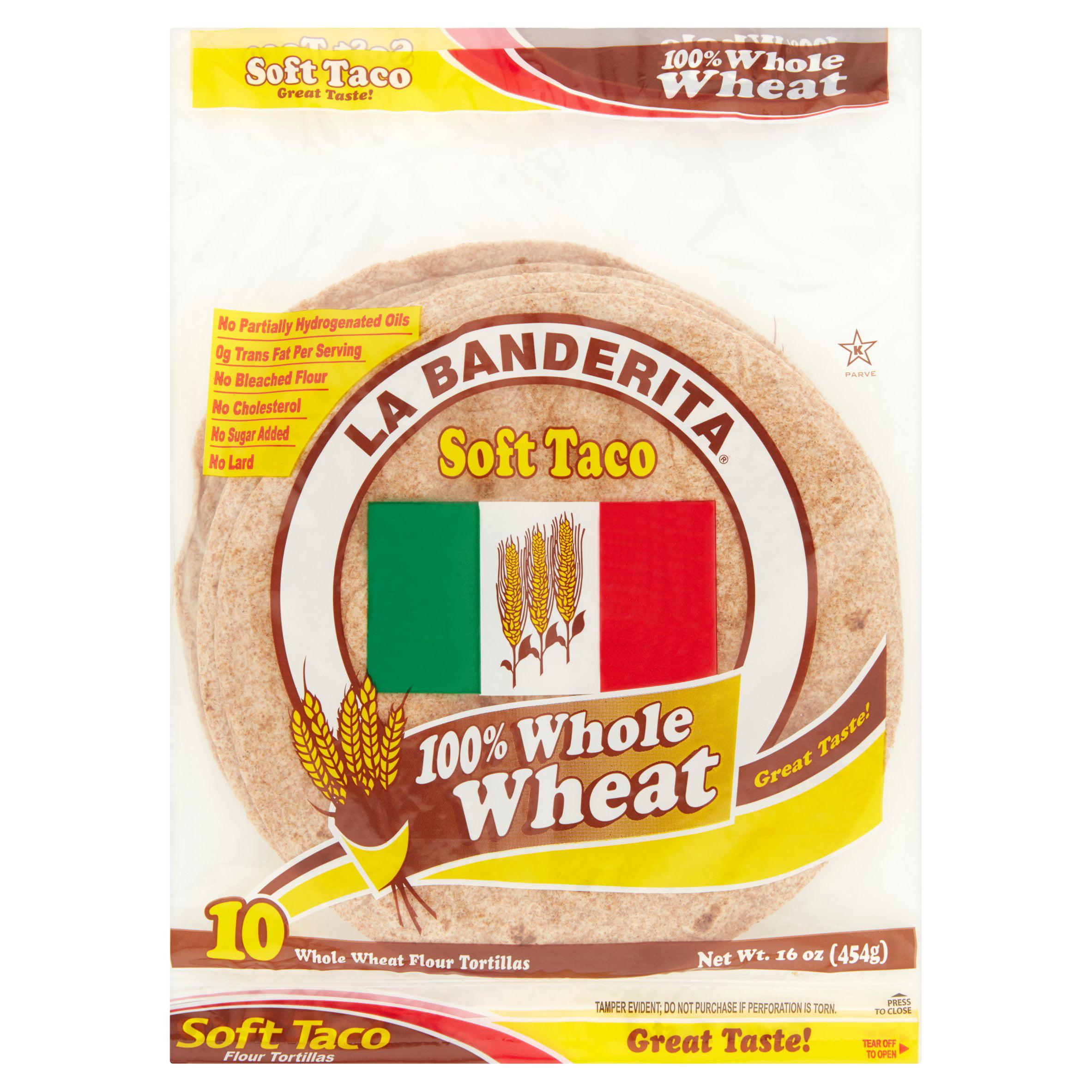 La Banderita Tortilla Whole Wheat,16 Oz (Pack Of 12)