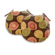 Greendale Home Fashions Floral Medallion 18'' Bistro Chair Cushion, Set of 2