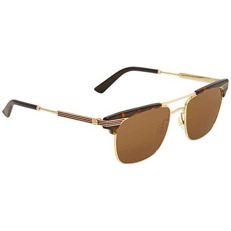 Gucci Brown Square Sunglasses GG0287S 003 52