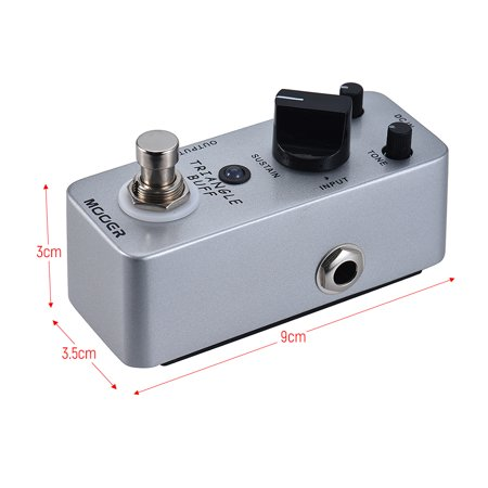 MOOER TRIANGLE BUFF Fuzz Guitar Effect Pedal True Bypass Full Metal Shell - image 5 de 7