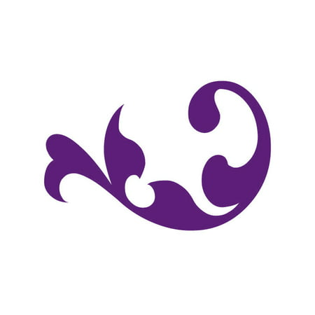 Wall Embellishment Decals Large Violet