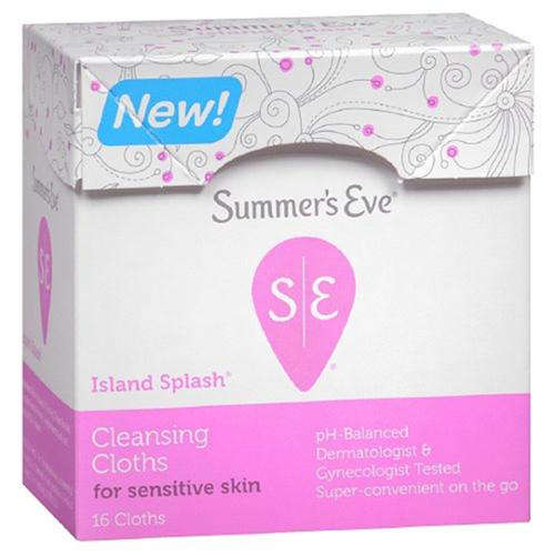 Summer's Eve Cleansing Cloth for Sensitive Skin, Island Splash  16 ea (Pack of 4)