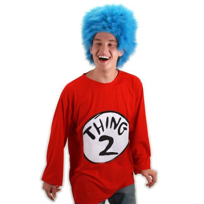 Small-Medium Dr Seuss Thing 2 T-Shirt Adult Costume Kit