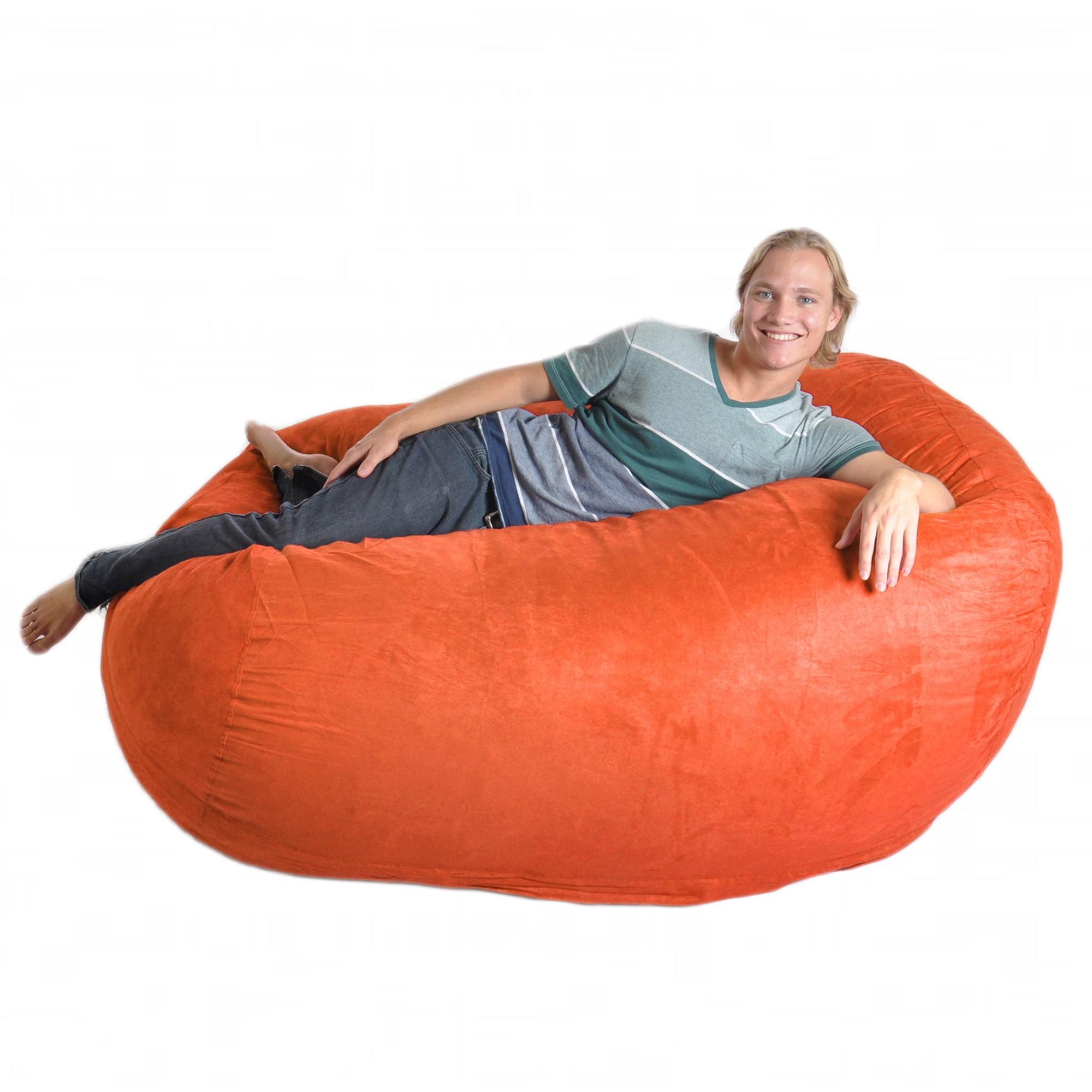 Slacker Sack Six-foot Pumpkin Oval Microfiber/ Foam Bean Bag