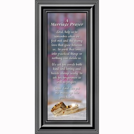 Framed Prayer for Your Marriage, Christian Wedding Gift for Bride and Groom, 6x12 7301