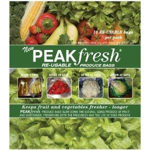 Peak Fresh Re-Usable Produce Bags **Set of Two** (20 bags total) (Peak Fresh Produce Bags)