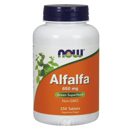 Now Foods - Alfalfa, 650 mg, 250 Tablets, Pack of 2