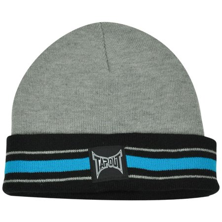 Ufo Cap - UFC MMA Cage Fight Tapout Cuffed Striped Toque Beanie Winter Knit Martial Arts