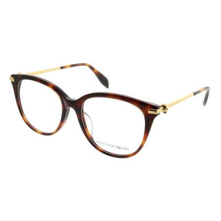 Alexander McQueen Iconic AM 0154OA 002 Womens  Square (Alexander Mcqueen Glasses)