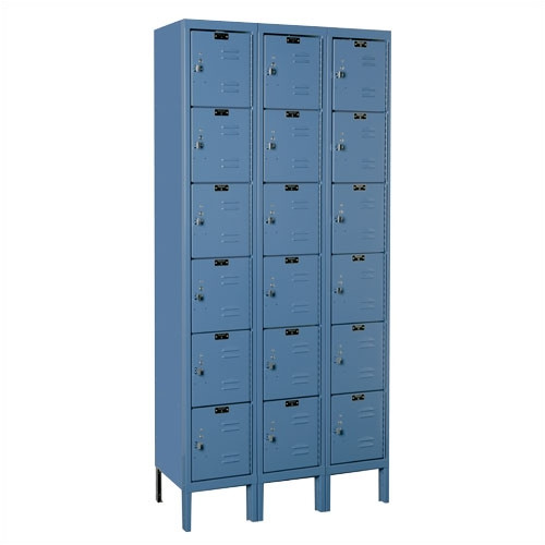 Hallowell Premium 6 Tier 3 Wide Employee locker