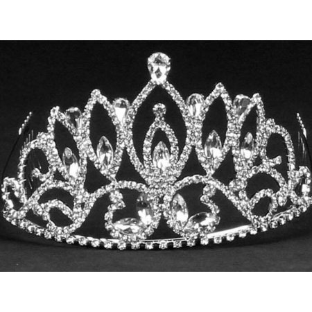 Pointed Rhinestone Tiara Sweet 16 Mis Quince Corona or Wedding Princess Crown](Sweet 16 Tiaras)