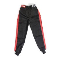 RACEQUIP Youth Small Black/Red 1 Layer Pro-1 Series Driving Pants P/N 1970092