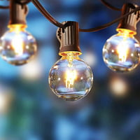 20-Count Better Homes & Gardens 110 Volts Electric 18.7FT G40 Clear Glass Globe Bulbs
