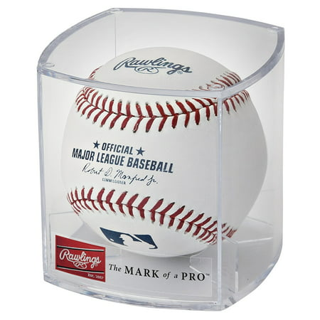 Rawlings Official MLB Baseball in Display (Mlb Logo Baseball Display Case)