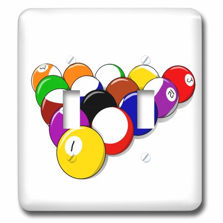 3dRose Pool Balls - Games People Play - Fun Art - Double Toggle Switch (Fun Mind Games To Play On People)
