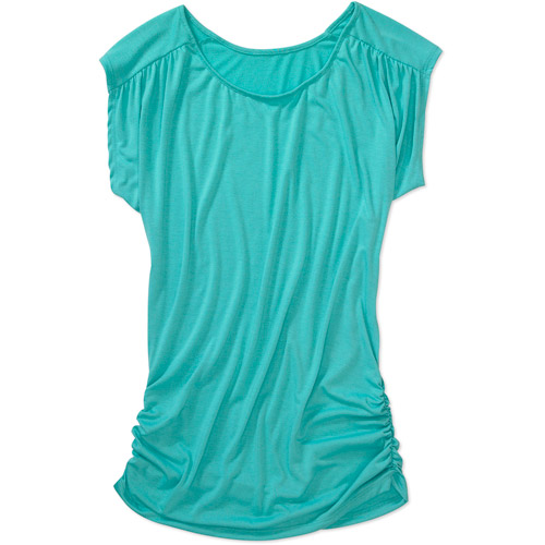 Susie Rose Collection - Womens Shirred Side Jersey Tunic