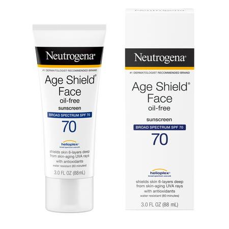 Neutrogena Age Shield Anti-Oxidant Face Sunscreen SPF 70, 3 fl. oz Ratchet Face Shield