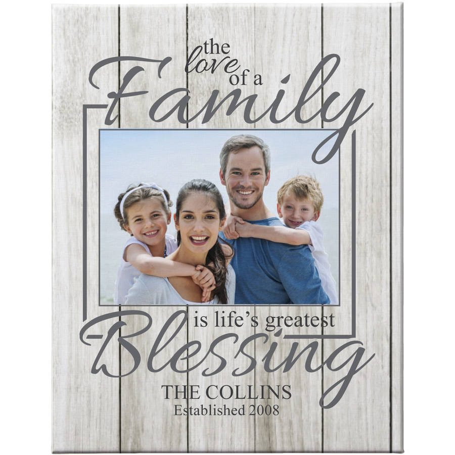 "Personalized The Love of a Family Photo Canvas, Ivory 16"" x 20"""