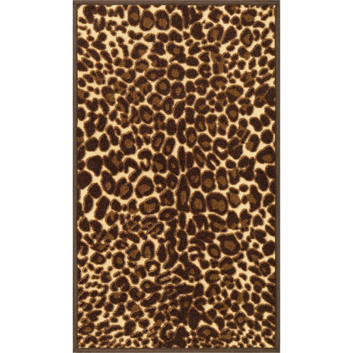 Well Woven Kings Court Gold Leopard Print Area Rug