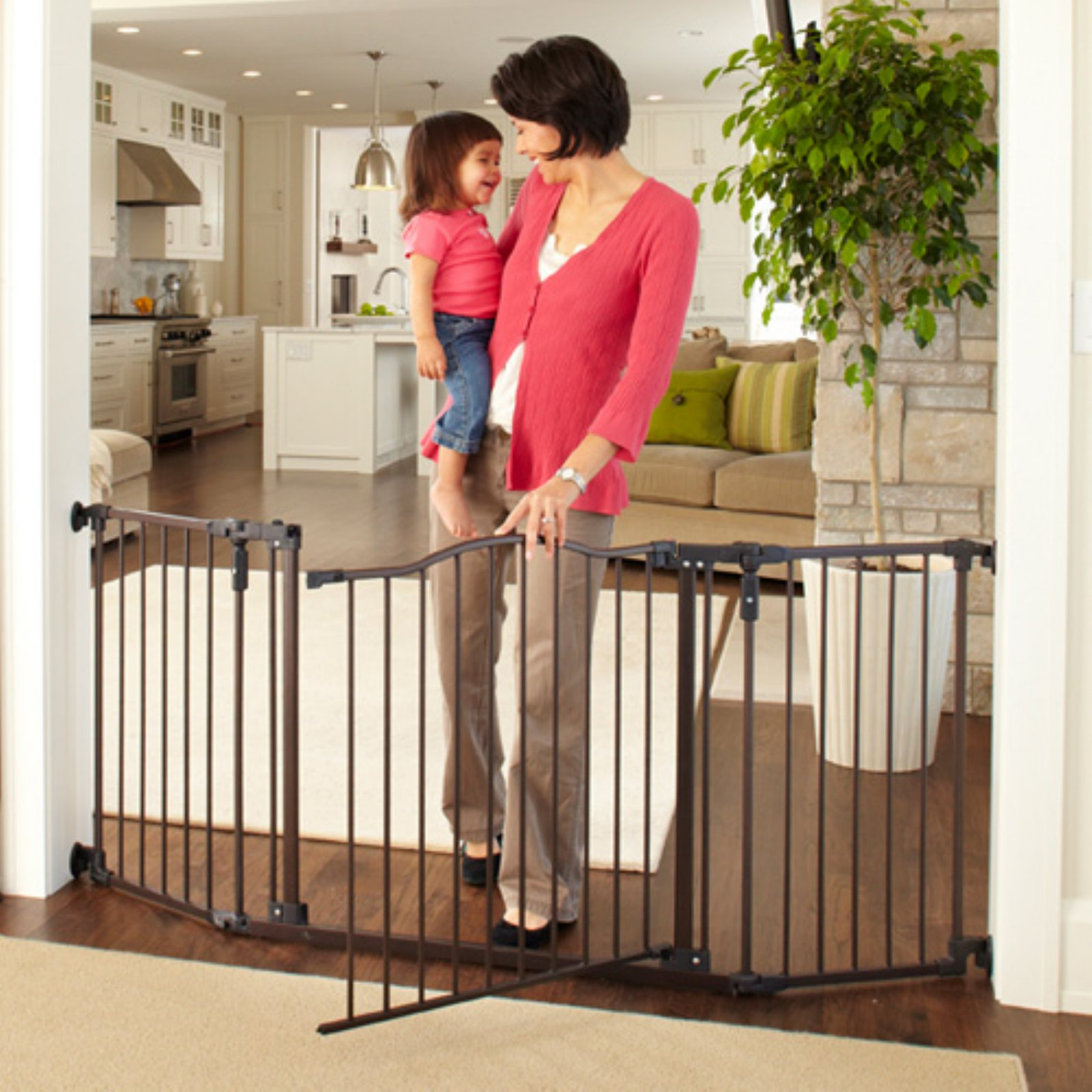 "North States Deluxe Decor 38-71"" Wide Baby and Pet Metal Gate, Matte Bronze 4934"