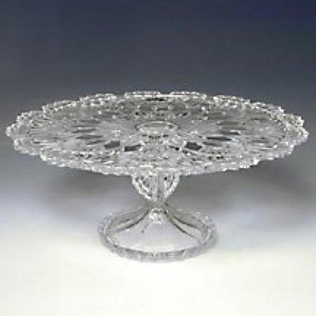 CRYSTAL GIFTWARE ROYALTY CAKE PLATE - Walmart.com
