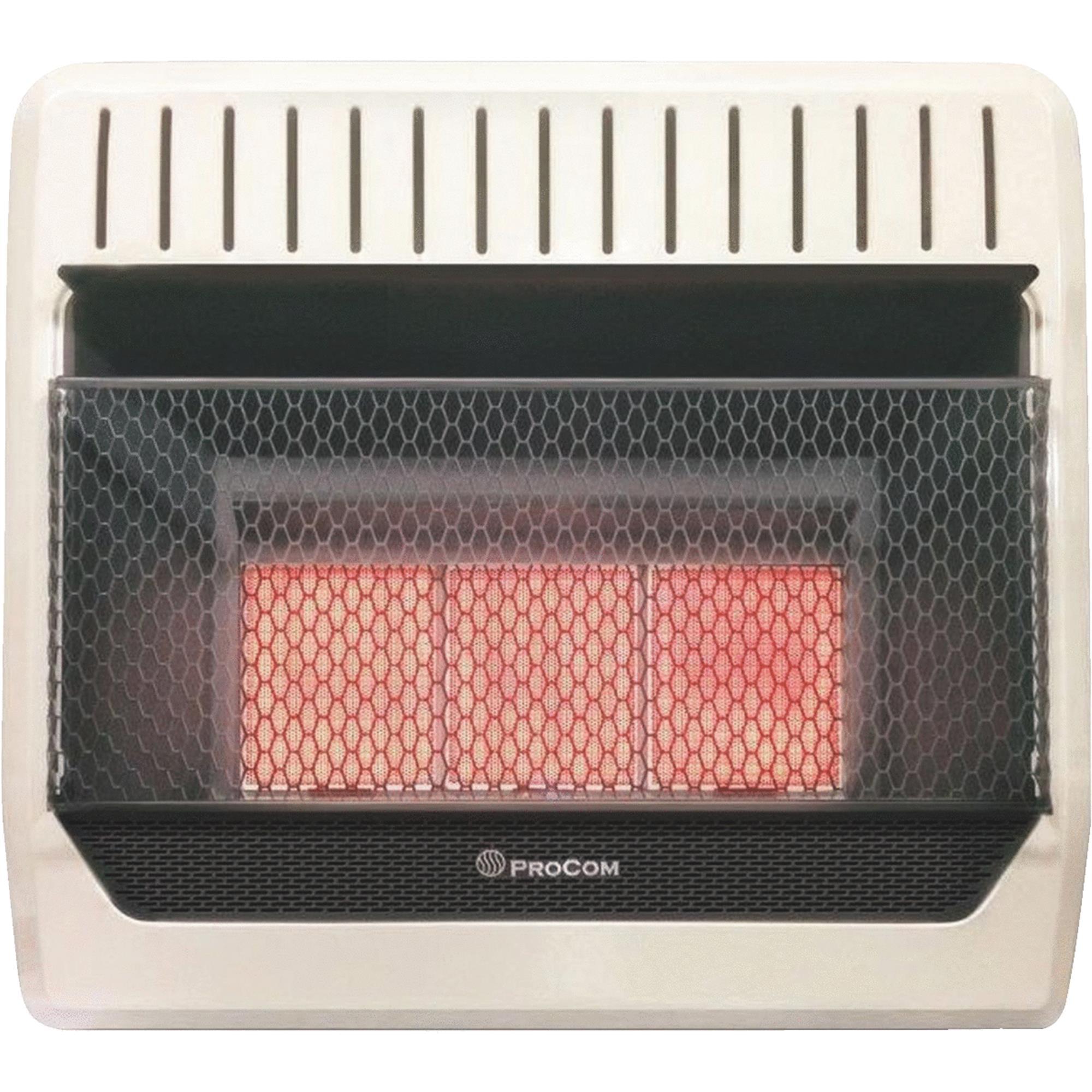 PROCOM HEATING INC Infrared Wall Heater, Dual Fuel, Vent-Free, 28,000-BTU MG3T1R