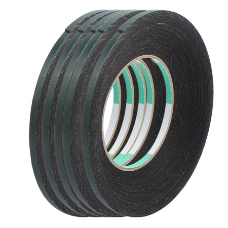 5pcs 10M x 5mm x 1mm Double-side Self Adhesive Shockproof Sponge Tape Green - image 4 of 4