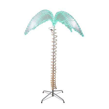 4.5' Green and Tan LED Palm Tree Rope Light Outdoor Decoration thumbnail