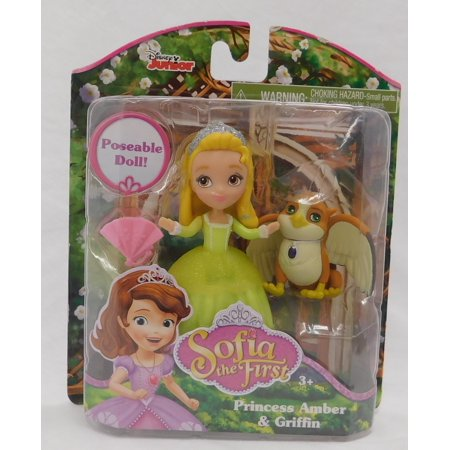 Disney Junior Sofia the First Princess Amber and Griffin Poseable Doll