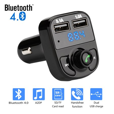 IMAGE Wireless Bluetooth Handsfree Car Kit FM Transmitter MP3 Player Dual USB Charger Transmitter Connection Kit