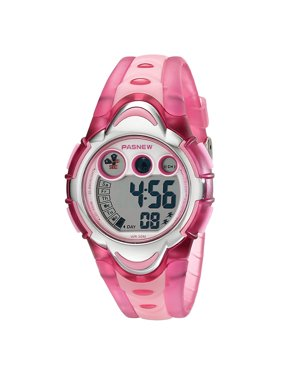Children Waterproof LED Digital Wristwatch, Multifunction Sport Watch Color:Pink
