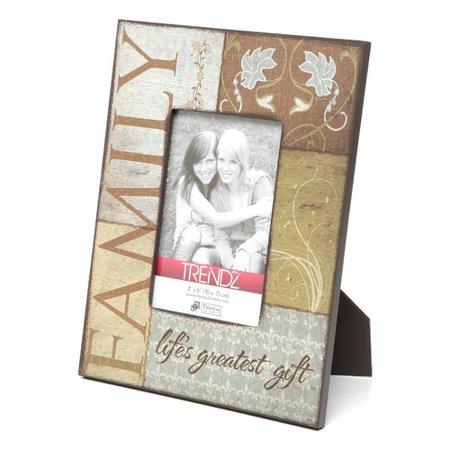 - Timeless Frames Trendz Family Decoupage Tabletop Photo Frame