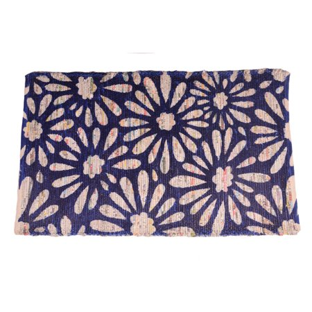 Blue Door Mat 2x4 ft Area Rugs Recycled