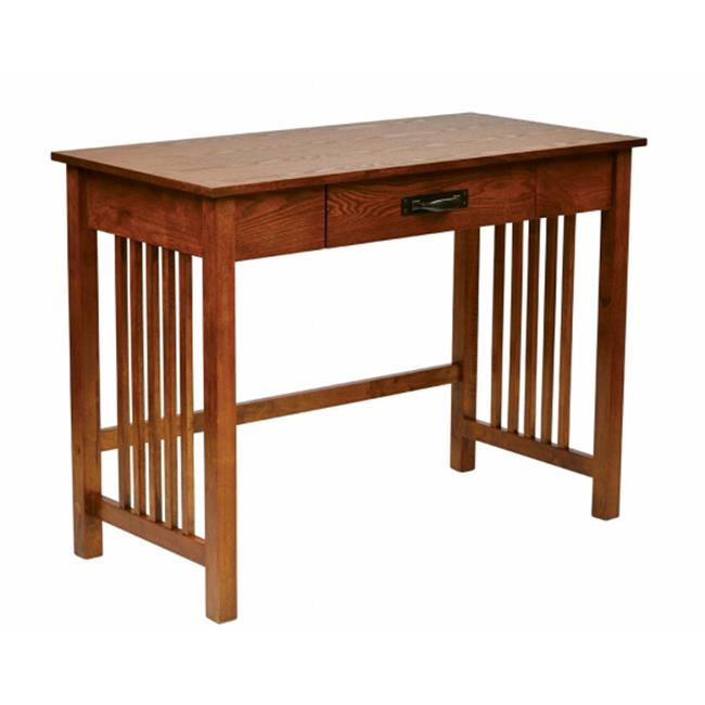 Avenue 6 Office Star SRA25-AH Sierra Writing Desk in Oak FInish with Pull out Drawer and Solid Wood Legs