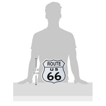 Adorox US Route 66 SHIELD Tin Art Sign Man Cave, Bar, Garage Retro Vintage Decoration (1)