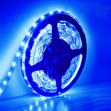 Led Strip Light SMD 3528 5M 300led DC 12V Flexible Stripe Rope Lights waterproof Ultra Blue Lighting Strips LED Tape