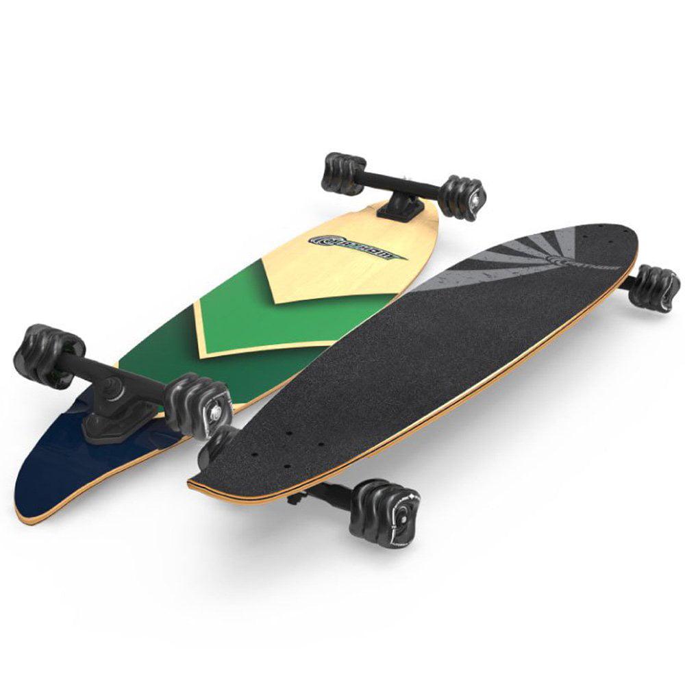 Fathom by Shark Wheel Pintail Longboard Skateboard Complete, Ocean Wave by Fathom by Shark Wheel